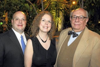 Honoree Joe Lucot, director Lociana Randall and John Lovelace.