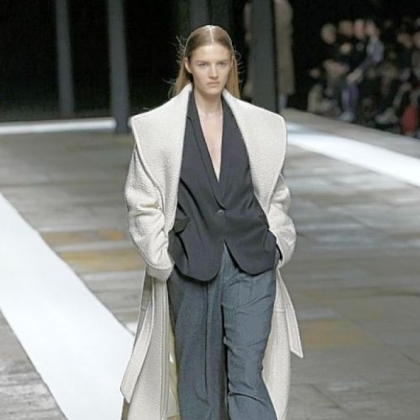 Oversized overcoats were part of the Theyskens Theory fall collection.