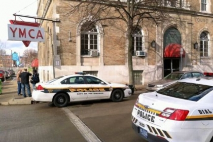 Pittsburgh police Monday morning investigate at the YMCA on the North Side.