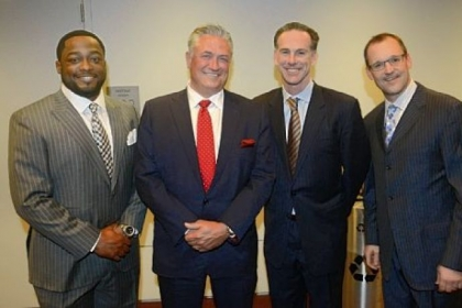 From left, Mike Tomlin, Clint Hurdle, Jamie Dixon and Dan Bylsma.