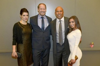 Veronica Stigeler, Bill Cowher, Hines Ward and Lindsey Georgalas.
