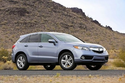 The 2013 Acura RDX offers a 3.5-liter V6 engine. Its interior wins the space wars, but some of the design touches don't measure up to the Infiniti.