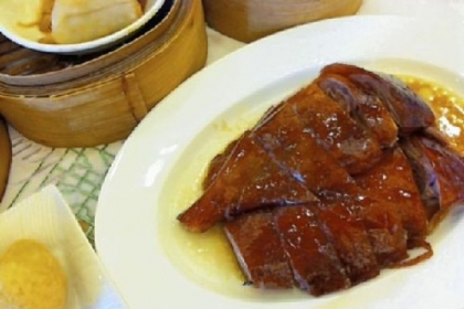 Roast goose is a classic dim sum dish.