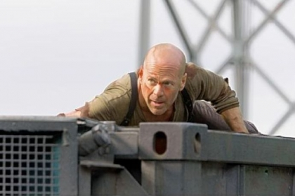 "Bruce Willis in ""Live Free or Die Hard."""