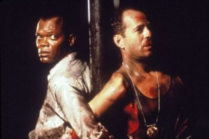 "Samuel L. Jackson and Bruce Willis star in ""Die Hard With A Vengeance,"" from Twentieth Century Fox in 1995."
