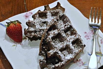 Hot Chocolate Waffles