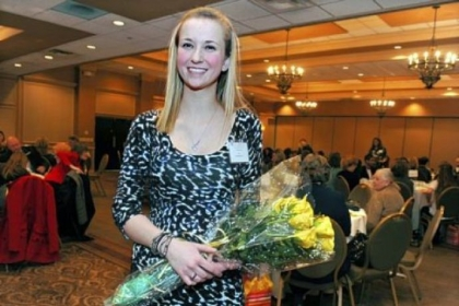 Allison Jo Vogrig, a senior at Canon-McMillan High School, received the 2013 Vivian Milhollan Exemplary Service Award.