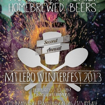 This is the poster for Mt. Lebanon's Winterfest 2013.