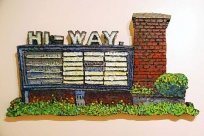 """Hi-Way Drive In"" depicts a former Route 30 landmark."