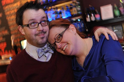 Mikey Holodnak and his fiance Erin Heintzinger, both of the city's East End, met on the online dating site OkCupid.com.