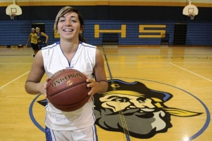 Mason DePetro, a senior at Cornell High School, is the all-time leading scorer for the Lady Raiders.