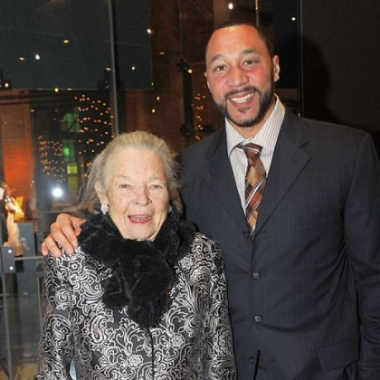 Elsie Hillman with Charlie Batch.