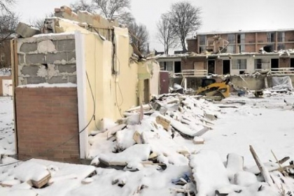 The inn's demolition on the 3-acre parcel began Jan. 28.