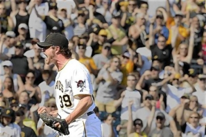 Jason Grilli will step up and fill the closer role left vacant when Joel Hanrahan was traded to the Red Sox.