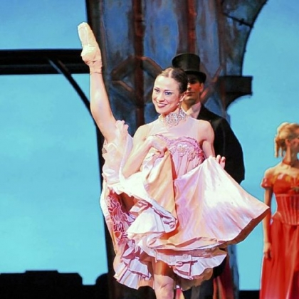 "Christine Schwaner is captivating as Nathalie in Pittsburgh Ballet Theatre's production of ""Moulin Rouge -- The Ballet."""