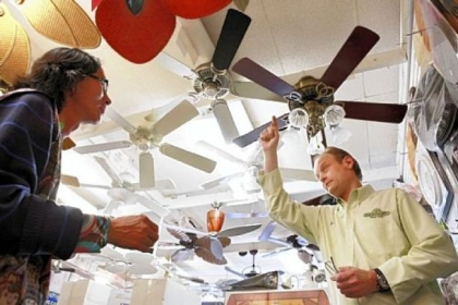 Ceiling fans can help reduce heating and air conditioning costs.