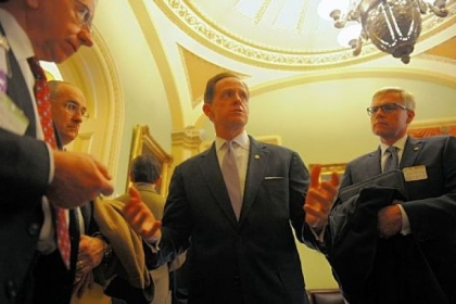 Sen. Pat Toomey holds a constituent meeting with the Pennsylvania Medical Society on Tuesday in Washington, D.C.