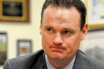 Pittsburgh Mayor Luke Ravenstahl during an interview regarding issues with the Police Bureau.