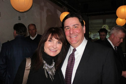 Cindy Engler and Bill Peduto.