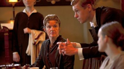 "Siobhan Finneran as Miss O'Brien and Matt Milne as Alfred in ""Downton Abbey,"" Season 3."
