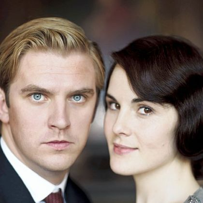 Dan Stevens as Matthew Crawley and Michelle Dockery as Lady Mary Crawley in &quot;Downton Abbey,&quot; Season 3.