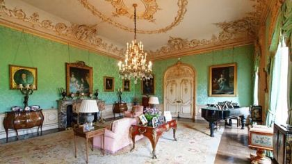The drawing room at Highclere Castle.