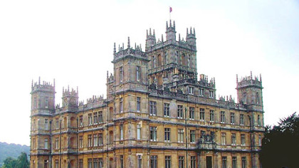 "Highclere Castle, the estate in Newbury, England, where ""Downton Abbey"" is filmed."