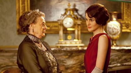 "Maggie Smith as the Dowager Countess and Michelle Dockery as Lady Mary Crawley in ""Downton Abbey,"" Season 3."