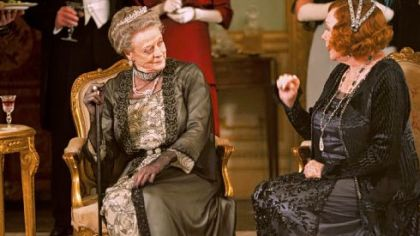 Maggie Smith as Lady Violet Crawley and Shirley MacLaine as Martha Levinson in &quot;Downton Abbey,&quot; Season 3.