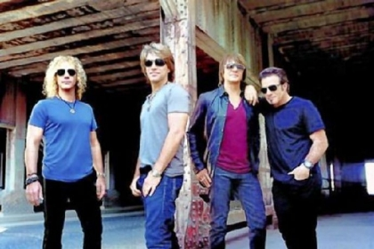 From left, David Bryan, Jon Bon Jovi, Richie Sambora and Tico Torres