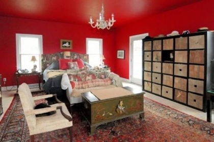 The first-floor master bedroom was added in 2009.