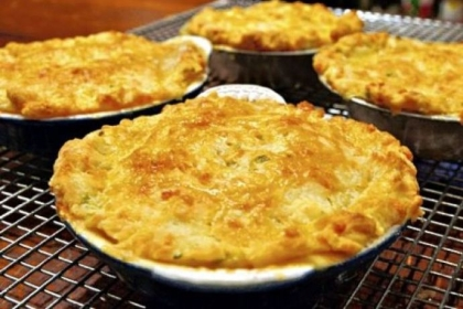 Chicken pot pies.