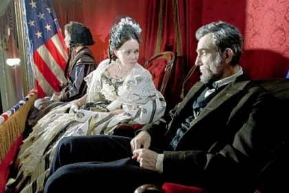 Sally Field and Daniel Day-Lewis appear in a scene from &quot;Lincoln.&quot;  Both are nominees for an Academy Award.