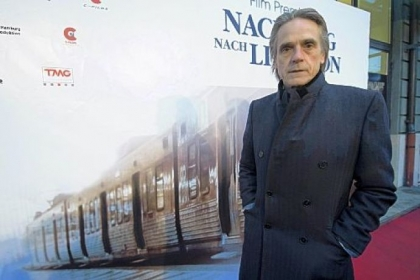 British actor Jeremy Irons attended Thursday&#039;s premiere of the movie &quot;Night Train to Lisbon&quot; in Bern, Switzerland.