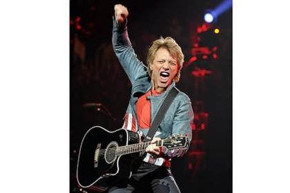 "Bon Jovi performs ""Lost Highway."""