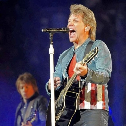 "Richie Sambora, left, and Jon Bon Jovi perform ""Lost Highway"" at Bon Jovi's concert Thursday night at Consol Energy Center."