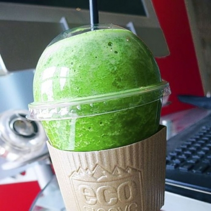 A Kale Smoothie from Simpatico Espresso in the Regional Enterprise Tower Downtown.