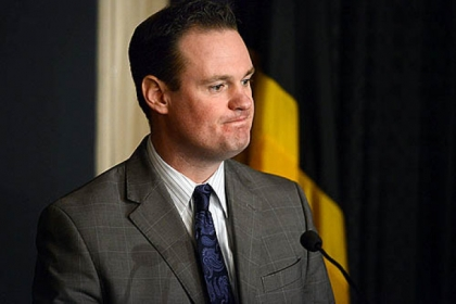 Pittsburgh Mayor Luke Ravenstahl speaks about Police Chief Nate Harper's resignation at a press conference at the mayor's office on Wednesday.