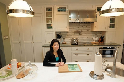 Allison Pileggi's new kitchen has everything at her wheelchair height.