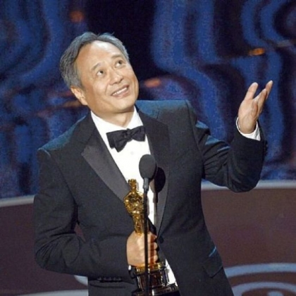"Director Ang Lee accepts the best director Oscar for ""Life of Pi."""