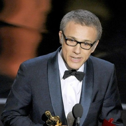 "Christoph Waltz borrowed dialogue from ""Django Unchained"" during his acceptance speech for the best supporting actor Oscar. ngo Unchained"" during the Oscars at the Dolby Theatre on Sunday Feb. 24, 2013, in Los Angeles.  (Photo by Chris Pizzello/Invision/AP)"