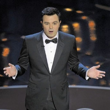 Host Seth MacFarlane drew gasps from the audience with a joke about Abraham Lincoln and John Wilkes Booth at Sunday night's Oscars at the Dolby Theatre in Los Angeles.