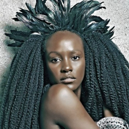 GLAMAZONIA exhibit celebrating African beauty and hairstyles at the August Wilson Center.