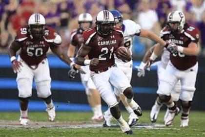 Former South Carolina running back Marcus Lattimore is aiming to recover from a gruesome knee injury and be one of the top running backs taken in the NFL draft.