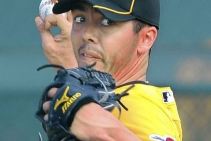 Pirates right hander Jeff Karstens throws off the mound during workouts in Bradenton, Fla., last spring training.