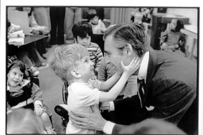 The 1978 photo of Fred Rogers and the unnamed little boy at Pittsburgh's Children's Institute
