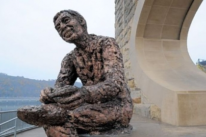 The Fred Rogers statue on Pittsburgh's North Shore.