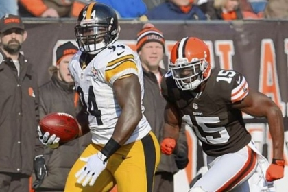 Lawrence Timmons returns an interception for a touchdown Nov. 25 against the Browns.