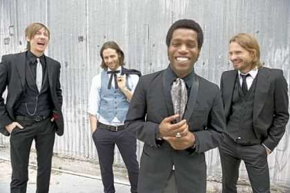 Rick Barrio Dill, left, Richard Danielson, Ty Taylor and Nalle Colt bring Vintage Trouble to Stage AE Friday night.