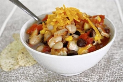 Freezer-to-Slow Cooker Chicken Chili.
